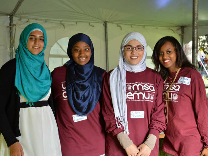 University of Ottawa Muslim Students' Association at last year's 101 Dinner for new students
