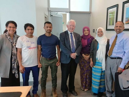 Members of the Rohingya Human Rights Network meeting with Bob Rae, Canada's Special Envoy to Myanmar.
