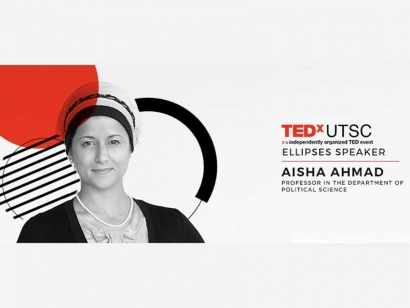 Aisha Ahmad on The Age of Heroes at TEDXUTSC 2017
