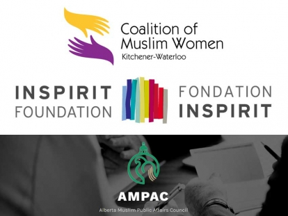 The Alberta Muslim Public Affairs Council (AMPAC) and the Coalition of Muslim Women Kitchener-Waterloo have received 2018 Core Grants of $150,000 each from Inspirit Foundation.