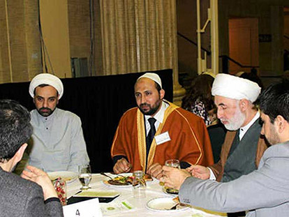 Imam Sami Metwally and Sheikh Mumtaz Ali at this year's Milad-un-Nabi Celebration.
