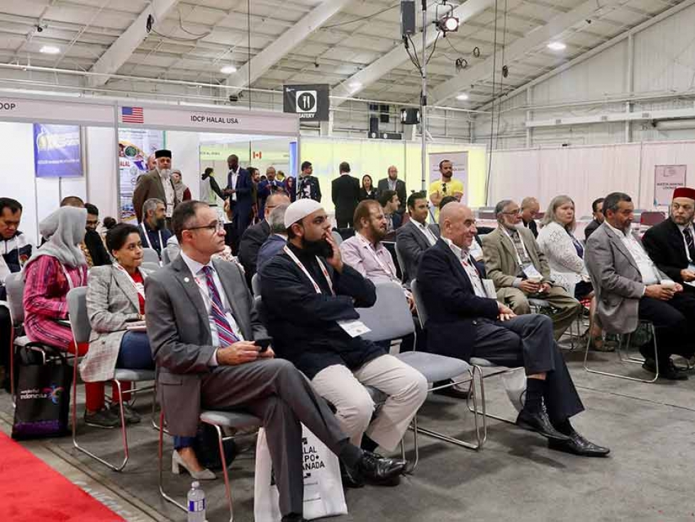 Participants at the first Halal Expo Canada in 2019 in Mississauga, Ontario.