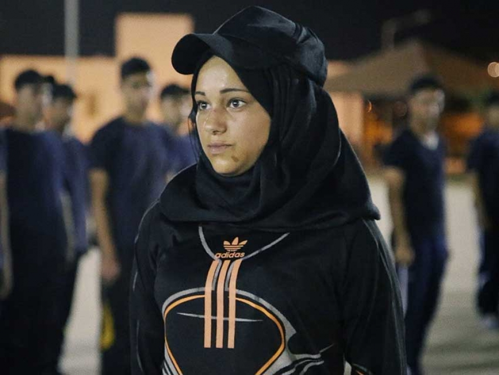 Walaa is determined to become one of the few policewomen in the Palestinian Security Forces.
