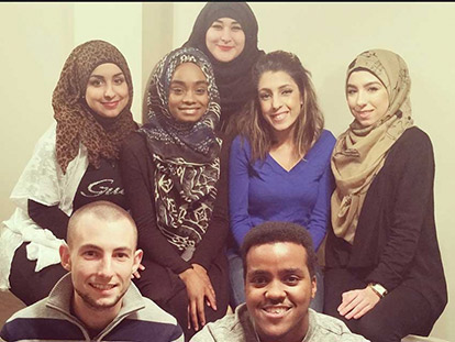 Keep Them Warm Team: Top  from left Jenan Dayfallah, Nahda Said, Meisan El-Maghrabi, Zeina Dayfallah, Reama Madi Bottom from Left Eric Tibbetts, Abdusalam Mohamed Ahmed