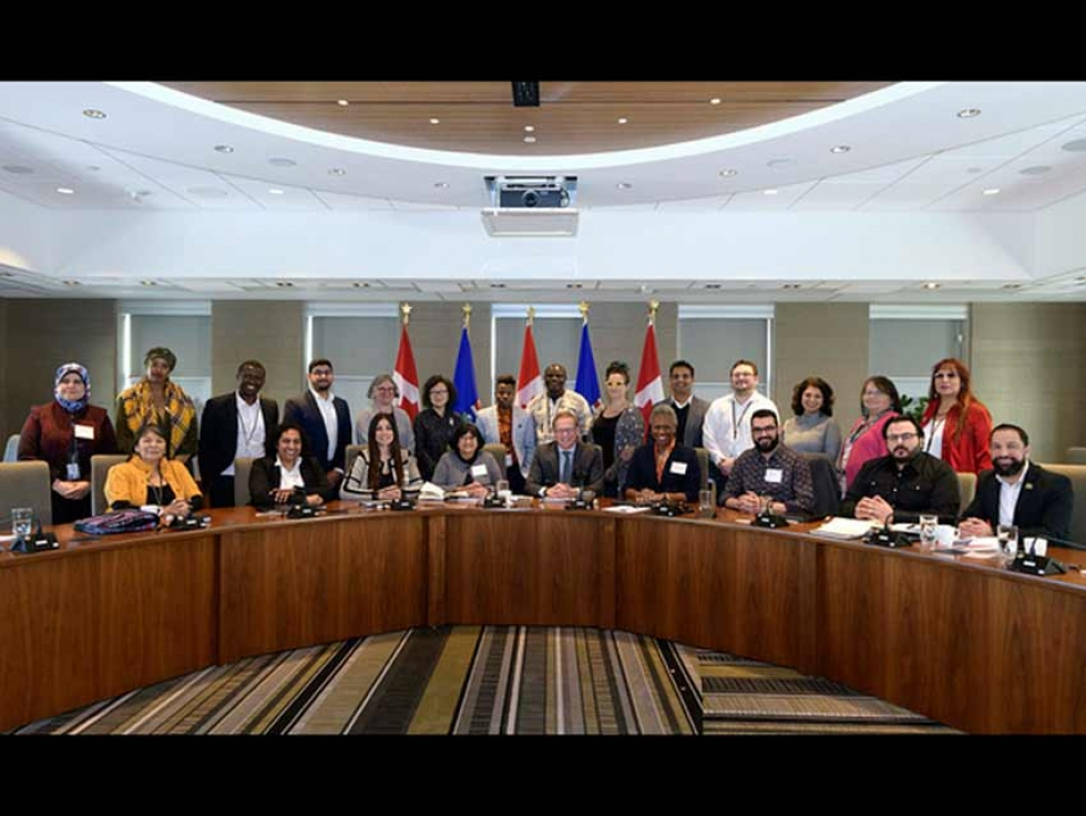 Members of Alberta's first council dedicated to combating racism
