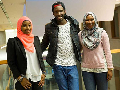 Aissatou Bah, Abdoulaye Sow, and Halima Moumouni appear in a video aimed at showing solidarity with the victims of terrorism in West Africa.