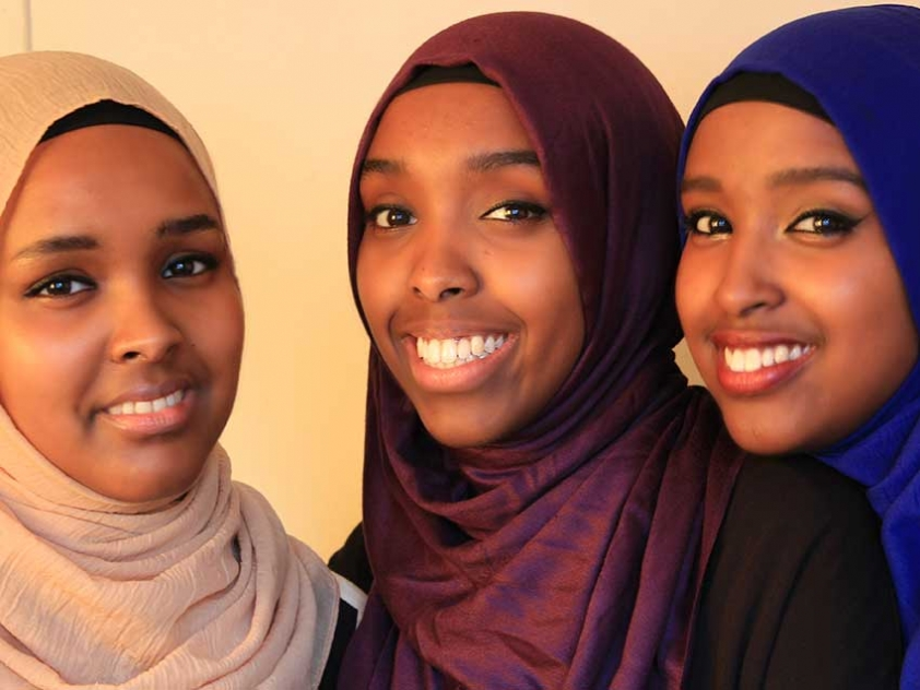 The team behind Qurtuba Publishing House: Sisters Hodan Ibrahim, Ilhan Ibrahim, and Ayan Ibrahim