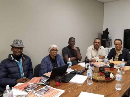 Members of Solidarité DJIBCAN Solidarity (not all members are present) Left to right: Ablis Afarson, Roda Muse, Abdi Daher, Alan Ibrahim & Sami Ahmed Mohamed.