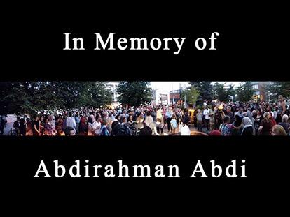 Hundreds gather for vigil in memory of Abdirahman Abdi