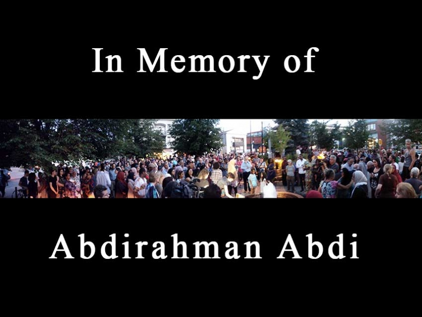 Hundreds gather for vigil in memory of Abdirahman Abdi