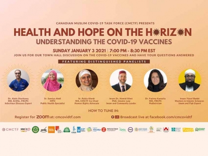 Check Out the Canadian Muslim COVID-19 Task Force Virtual Town Hall on Understanding the COVID-19 Vaccines on January 3