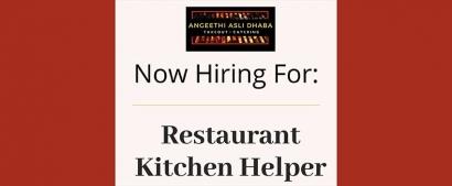 Angeethi Asli Dhaba Pakistani Restaurant Kitchen Helper