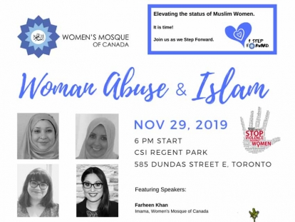 Learn about Woman Abuse and Islam on November 29 in Toronto