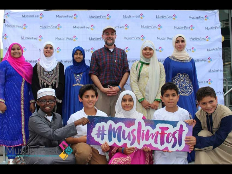 Muslim Canadian singer and songwriter Dawud Wharnsby and friends at MuslimFest 2017 in August.