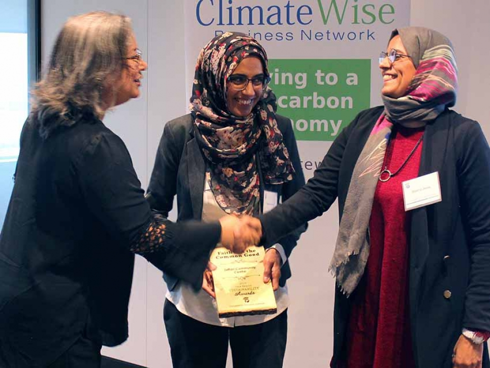 In 2019, Jaffari Community Centre was presented with Faith and the Common Good's York Region Sustainability Award which is given to a faith-community in York Region in recognition of notable efforts to embed environmental sustainability actions within their community