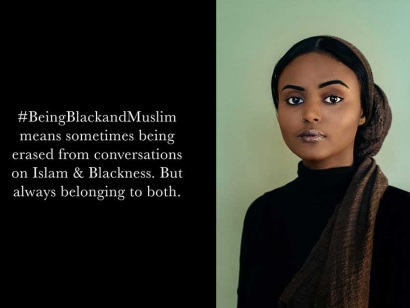 "This is a portrait from the series ""Being Black and Muslim"" by visual artist Bobby Rogers. Check out his work at bobbyrogers.co"