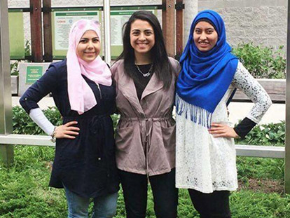 University of Ottawa students Noura Abdalaal, Tuba Yousuf, and Nour Khalaf, have raised enough funds to provide meals for a number of people at the Ottawa Mission this Friday, June 24th