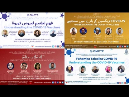 Canadian Muslim COVID-19 Task Force: Watch Town Halls about Vaccines in Arabic, Bengali, Somali, and Urdu