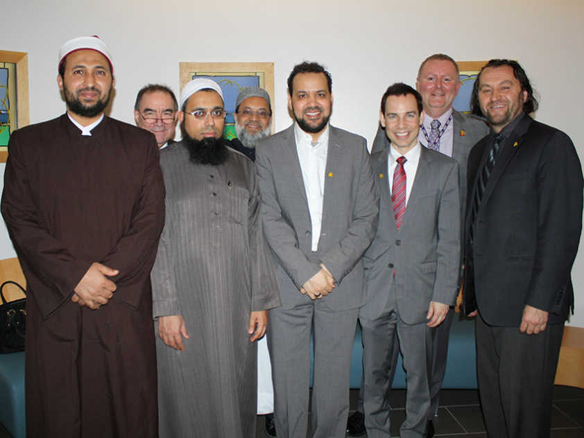 Local imams and CHEO representatives at the inauguration of the newly renovated Interfaith Prayer Room.
