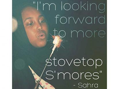 Sahra, a Camp Inspyred participant.