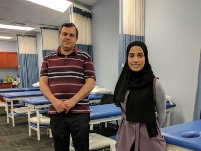 Physiotherapists Mohamed Fouda and Keltouma Nouah work at Prime Physio Plus in Ottawa.