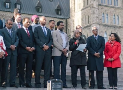 MPs and Somali Community Gather on Parliament Hill To Mourn The Victims of the Mogadishu Attack