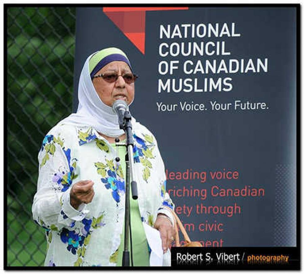 Khadija Haffajee was a board member of the National Council of Canadian Muslims (NCCM)