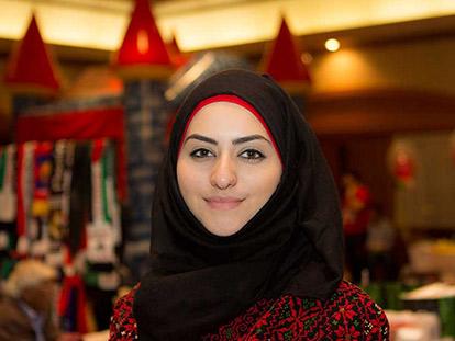 Hind Al Hassoun at the Arabian Canadian Bazaar on January 18 2015.