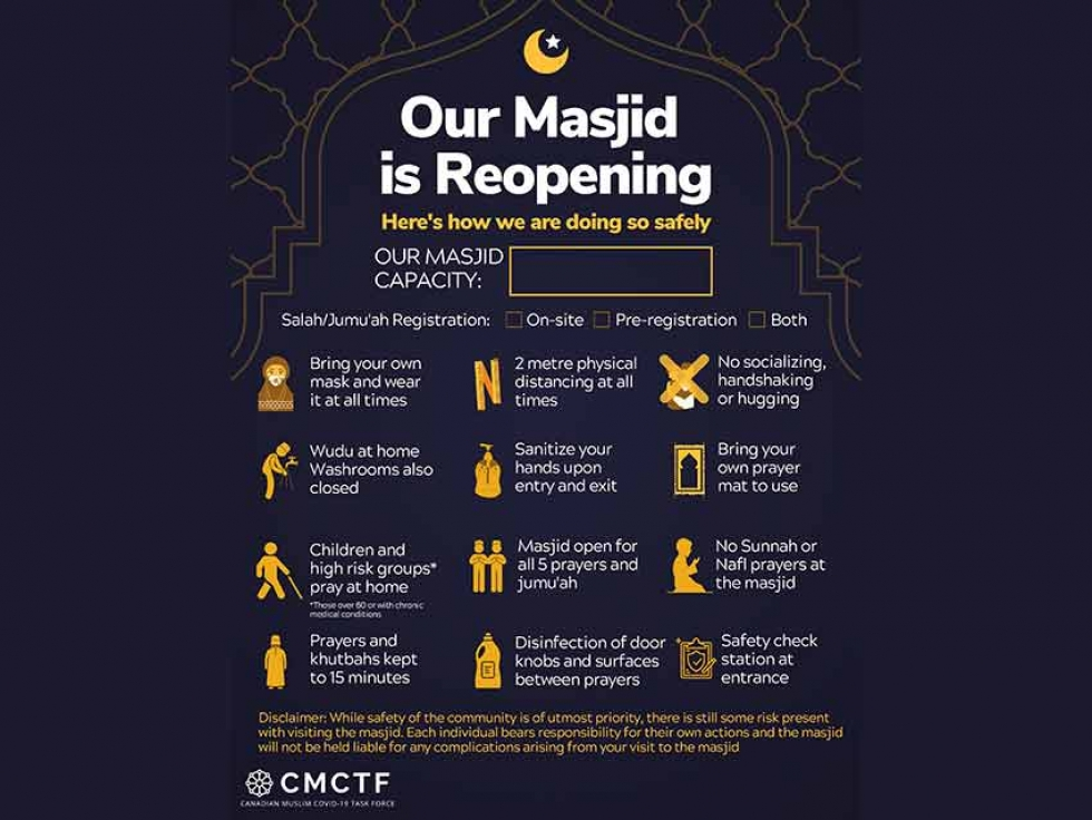 Canadian Muslim COVID-19 Task Force Launches Reopening Guidelines and Calls for Due Diligence