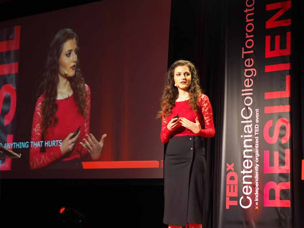 """Najwa Zebian on The Power of """"Me Too"""" at TEDxCentennialCollege 2018"""