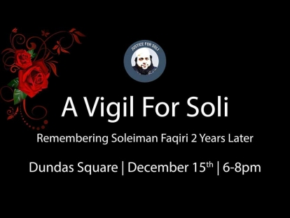 A Vigil for Soli: Remembering Soleiman Faqiri A Victim of Ontario's Broken Criminal Justice System