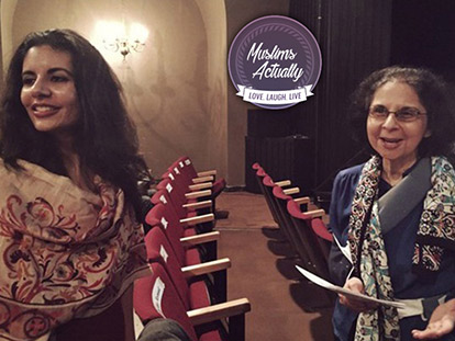 Azeezah Kanji, the director of programming for the Noor Cultural Centre, and her mother Samira Kanji.