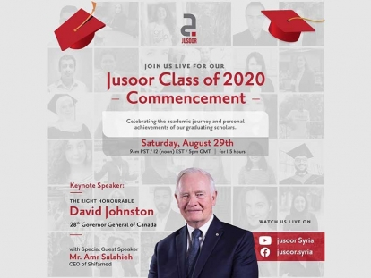 Class of 2020 Syrian Scholars to Celebrate Virtual Graduation with The Right Honourable David Johnston