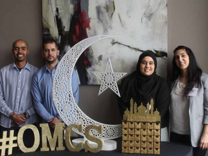 Members of the Ottawa Muslim Community Services (OMCS) team at their organization's soft launch on March 10, 2020.