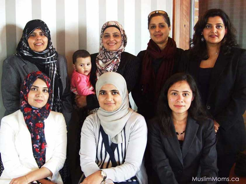 The team behind MuslimMoms.ca
