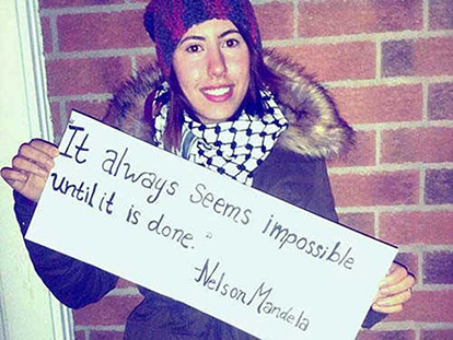 Amanda Beheisi shares a message from Mandela.