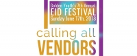 Golden Youth Eid Festival is looking for vendors. The festival takes place on June 17, 2018 in Hamilton, Ontario.