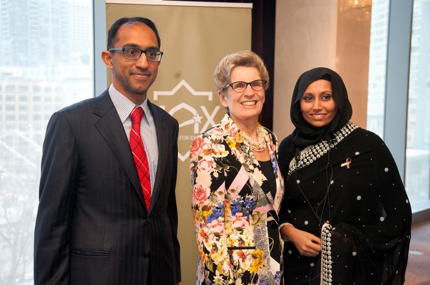 MAX Gala Founder Aazar Zafar with Ontario Premier Kathleen Wynne and MAX Gala lead organizer Asma Bala