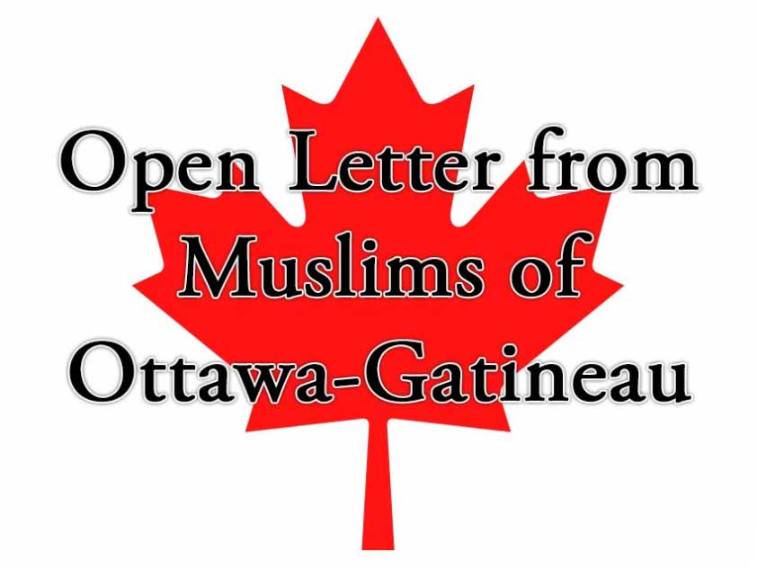 Open Letter from Muslims of Ottawa-Gatineau