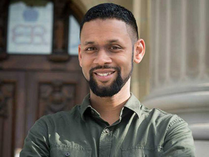 Imam Ryan Carter is a Chaplain with the Royal Canadian Military College, based in Kingston.