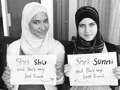From Egypt with Love: Sunni and Shia friends Hadeia and Fatima.