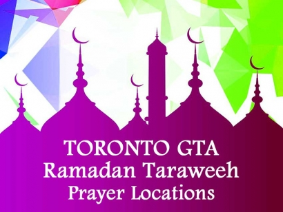 Toronto GTA Ramadan Taraweeh Prayer Locations 2018