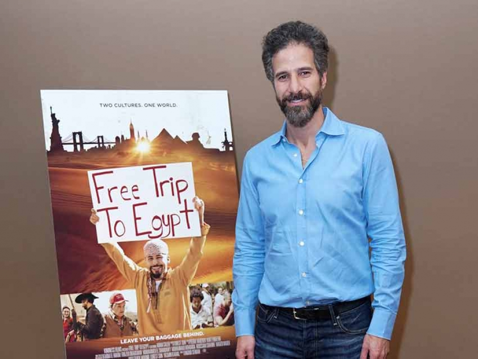 "Egyptian Canadian Tarek Mounib at the New York premiere of ""Free Trip to Egypt""."