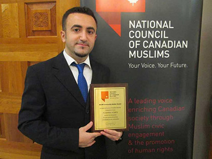 Mohammad Dourou wins NCCM's Community Builder Award