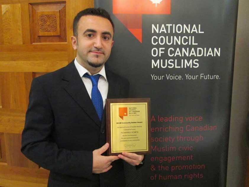 Mohammad Dourou wins NCCM's Community Builder Award