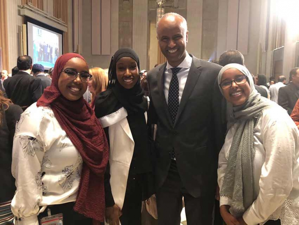 MP Ahmed Hussen with young Muslim community leaders at Eid on the Hill on June 19th.