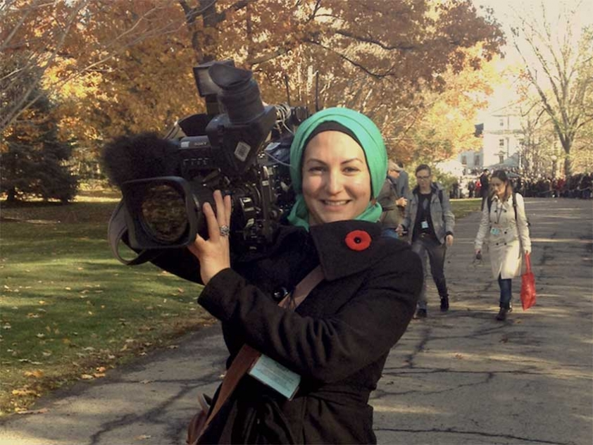 Syrian Canadian multimedia journalist Oussayma Canbarieh