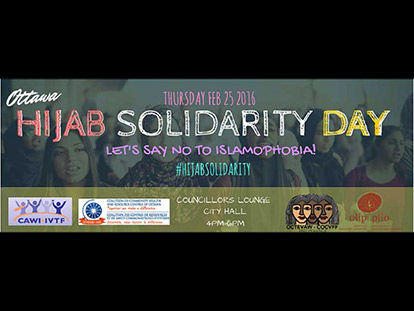 Feb. 25th: Ottawa Hijab Solidarity Day #hijabsolidarity
