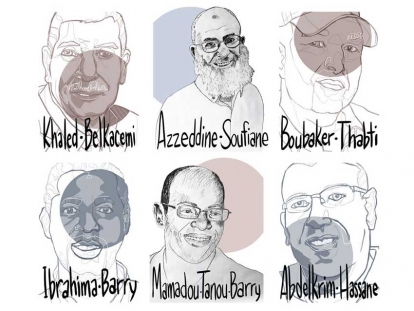 The Council of Canadians was honoured to partner with artists Melisse Watson and Syrus Marcus Ware to create these portraits to commemorate the six victims of the attack on a mosque in Quebec City on January 29 2017: Azzeddine Soufiane, Mamadou Tanou Barry, Khaled Belkacemi, Aboubaker Thabti, Ibrahima Barry and Abdelkrim Hassane.