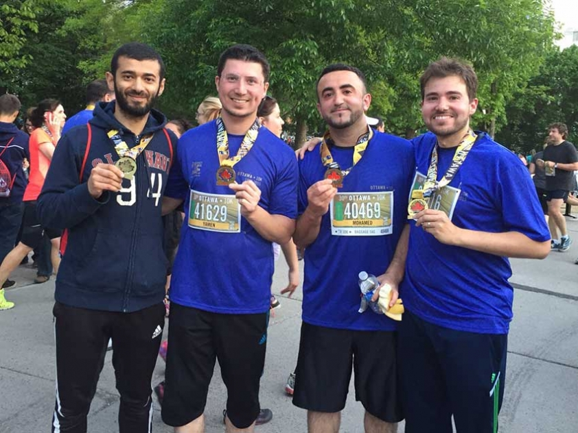 Haissam Dahan took part in Ottawa Race Weekend with his friends Mohammad Dourou, Yamen Ghamian, and Ahmed Shalaby
